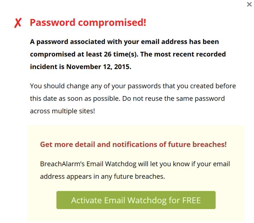 Breach-Alarm-check-fail